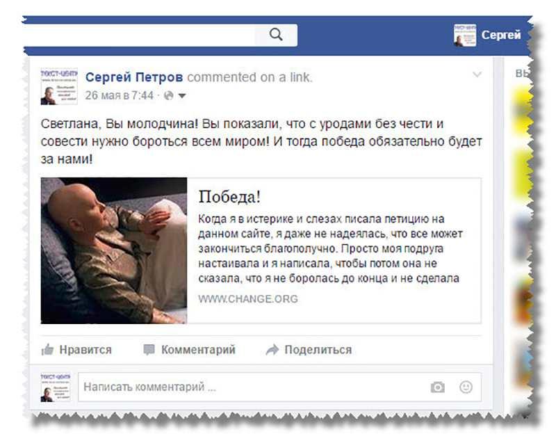 Мой комментарий на слова благодарности Светланы Лапиной